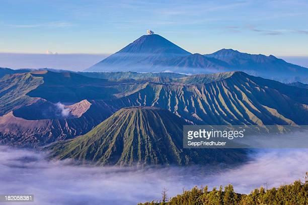 Vista para a Caldeira de Bromo Vulcão Java Indonésia