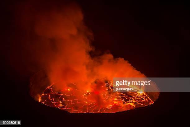 View into the heart of earth, Nyiragongo volcano, Congo