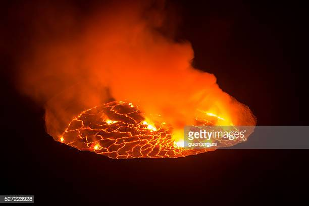 View into the heart of earth, Nyiragongo volcano, Congo