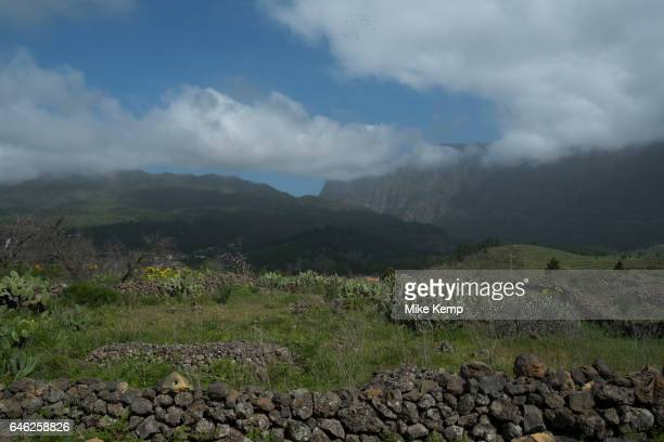 View looking north to the Caldera de Taburiente National Park in La Palma Canary Islands Spain La Palma also San Miguel de La Palma is the most...