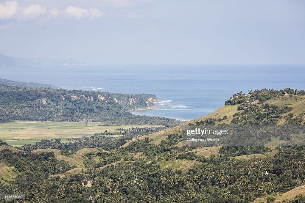 A view looking out to the India Ocean in South Western Sumba on April 13, 2013. Sumba is a remote island in Eastern Indonesia, part of the Lesser Sunda Islands group based in the province of East Nusa Tenggara.