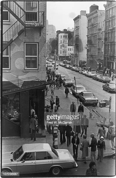View looking south along West Broadway from Spring Street New York New York March 5 1977