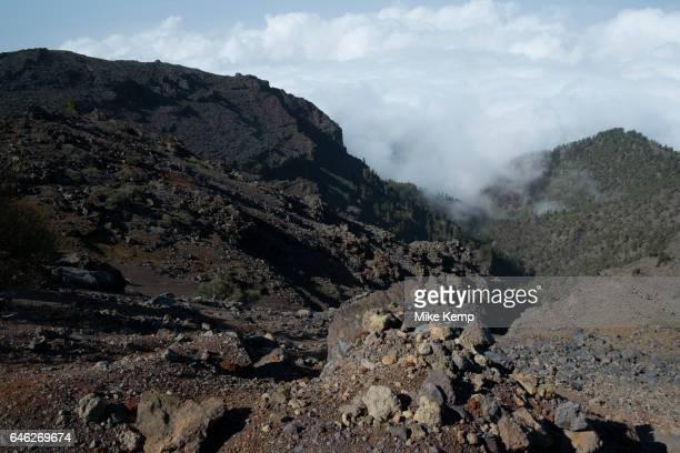 View looking south to the Caldera de Taburiente National Park in La Palma Canary Islands Spain La Palma also San Miguel de La Palma is the most...