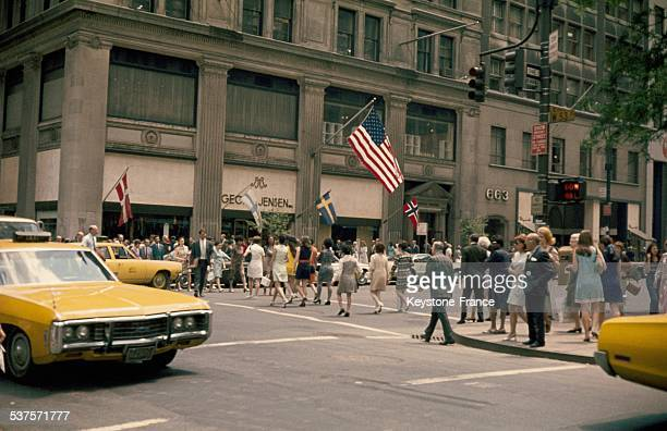 View of 5th Avenue in New York City in July 1970