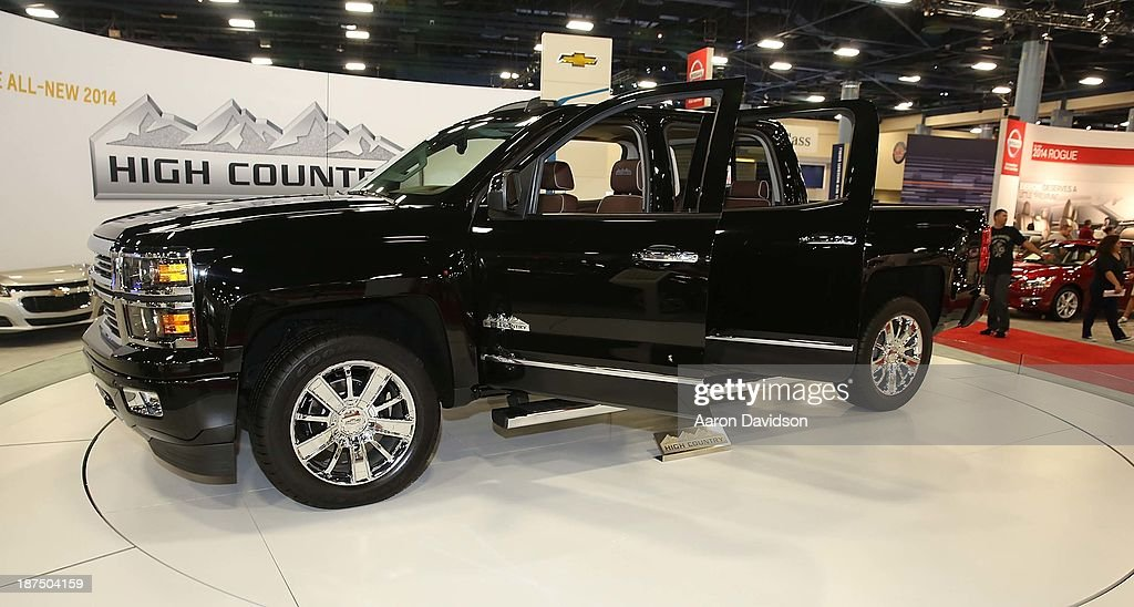 A view of a 2014 Chevrolet High Country at Miami International Auto Show at the Miami Beach Convention Center on November 9, 2013 in Miami Beach, Florida.
