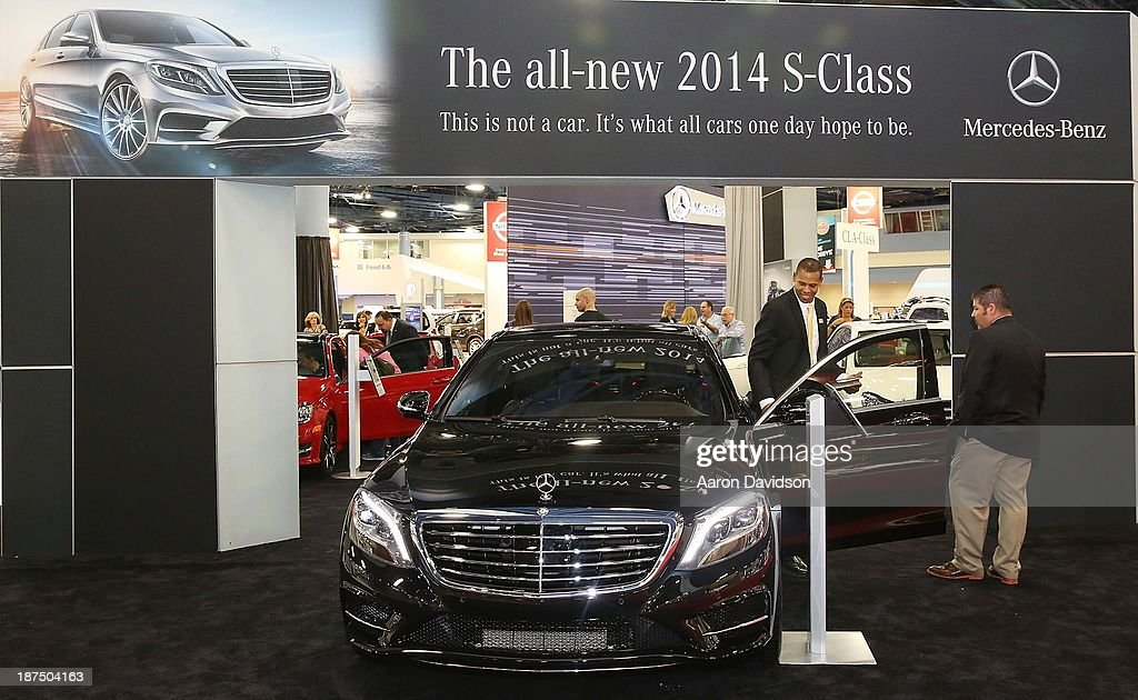 A view of a 2014 Mercedes-Benz S-Class at Miami International Auto Show at the Miami Beach Convention Center on November 9, 2013 in Miami Beach, Florida.