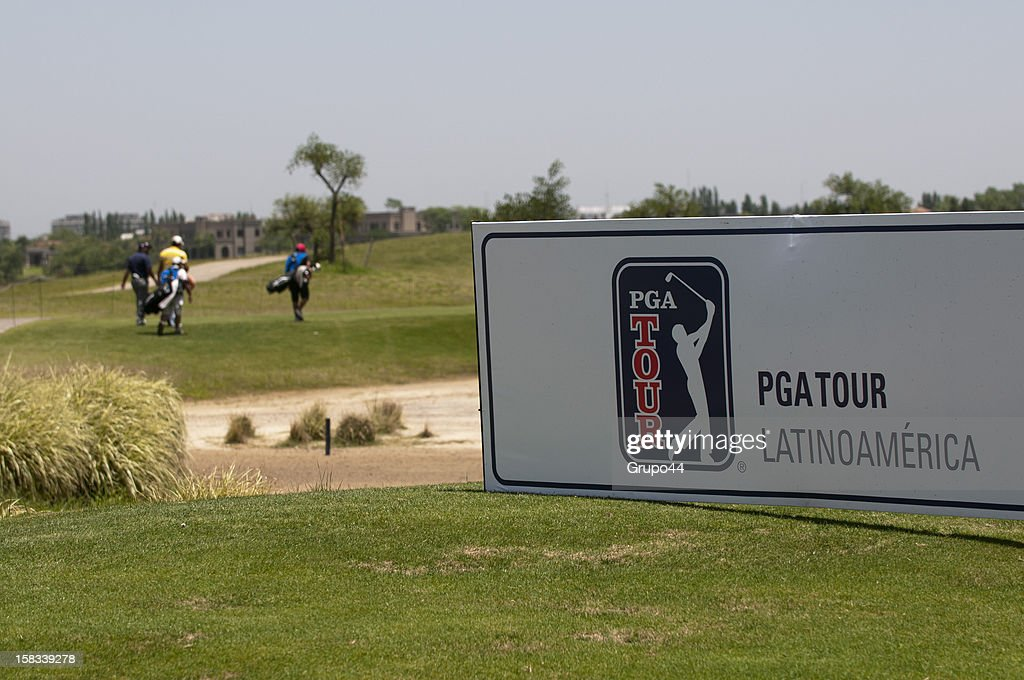 View of a billboard during the opening day of the 107 Visa Golf Open presented by Peugeot as part of the PGA Latin America at Nordelta Golf Club on December 13, 2012 in Buenos Aires, Argentina.