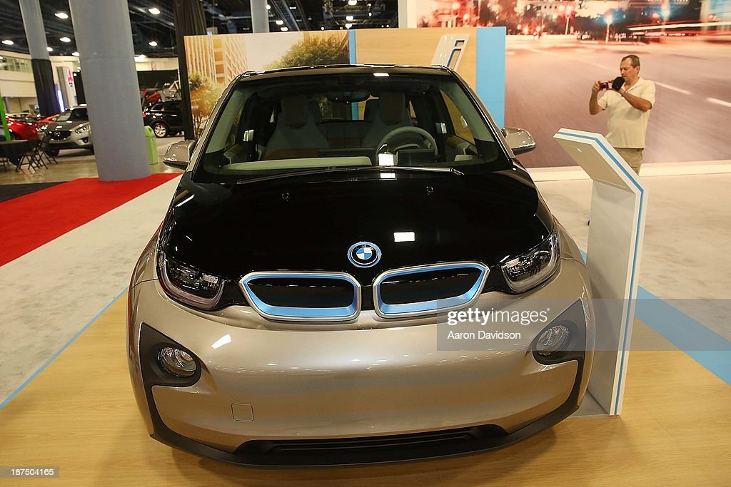 A view of a BMW I CONCEPT at Miami International Auto Show at the Miami Beach Convention Center on November 9, 2013 in Miami Beach, Florida.