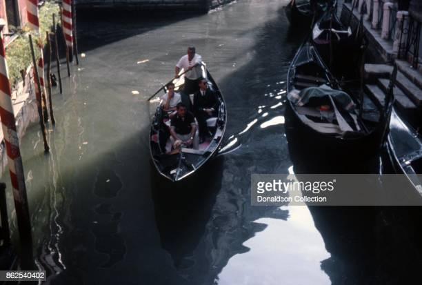 A view of a boat on a canal on September 12 1963 in Venice Italy