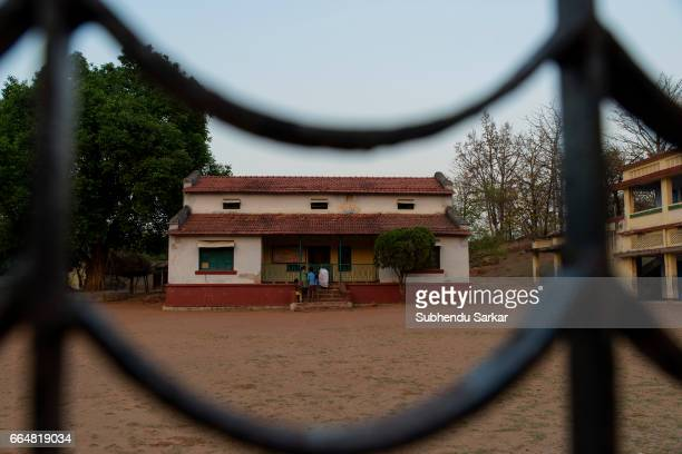 MCCLUSKIEGUNJ RANCHI JHARKHAND INDIA A view of a bungalow that once belonged to an AngloIndian family that has been converted to a school...