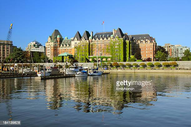 A view of a castle in Victoria, British Columbia
