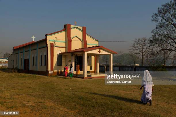MCCLUSKIEGUNJ RANCHI JHARKHAND INDIA A view of a catholic church at McCluskiegunj which is today frequented by the local tribal population who...