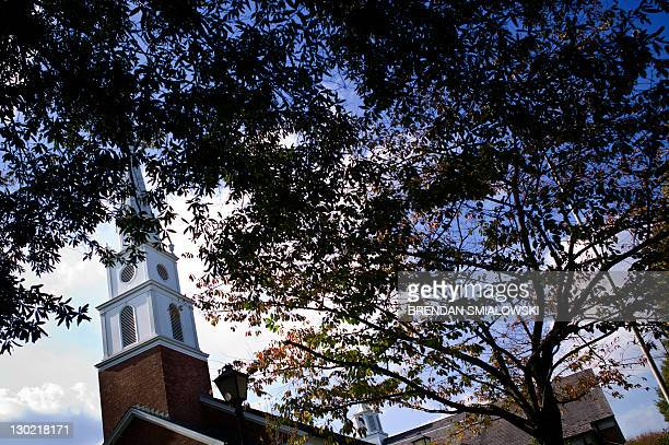 A view of a church housing the Chevy Chase area stake of the Church of Jesus Christ of Latter Day Saints October 23 2011 in Chevy Chase Maryland The...