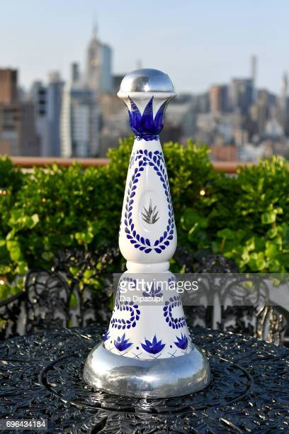 A view of a Clase Azul Tequila bottle at the 20th Anniversary Celebration of Clase Azul Tequila at Public hotel on June 15 2017 in New York City