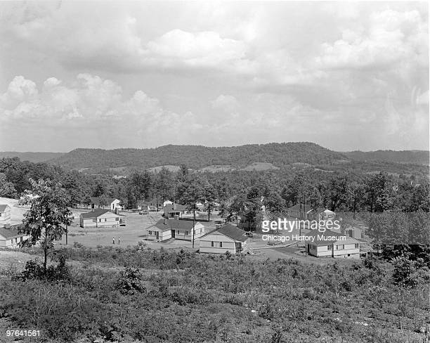 View of a cluster of singlefamily homes in Oak Ridge Tennessee Juy 12 1944 The city was established in 1942 to house the employees of the...