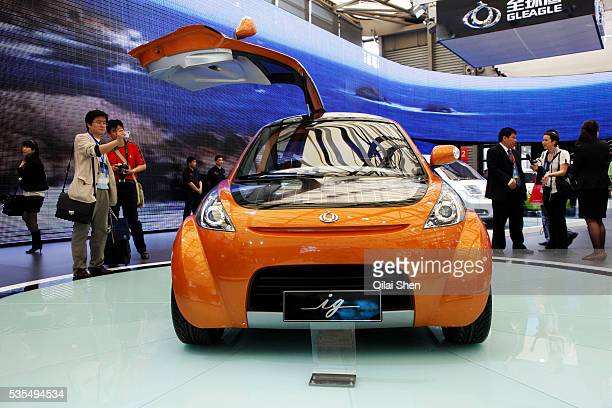A view of a concept subcompact by Chinese carmaker Geely seen at the Auto Shanghai 2009 in Shanghai China on 21 April 2009 Automakers from across the...