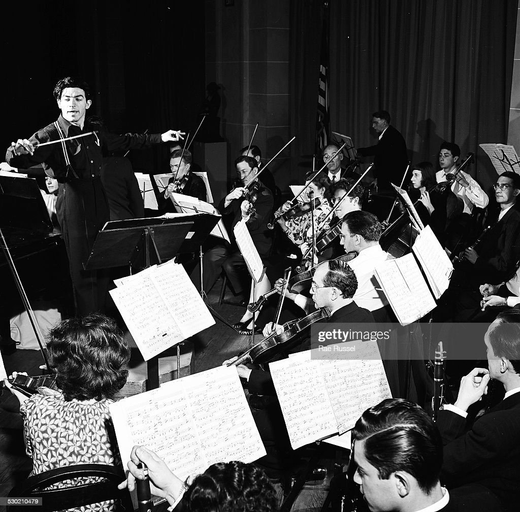 View of a concert sponsored by WNYC radio and held at the Brooklyn Museum Brooklyn New York New York 1947