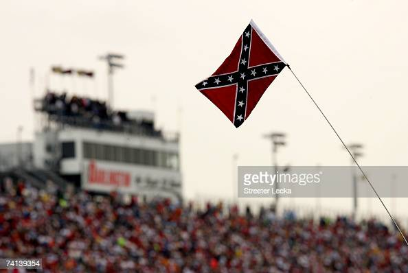 A view of a Confederate flag during the NASCAR Nextel Cup Series Dodge Avenger 500 on May 13 2007 at Darlington Raceway in Darlington South Carolina