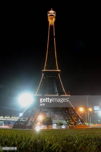 View of a copy of the Eiffel Tower in Gomez Palacio Durango State Mexico on December 2 2013 AFP PHOTO/ENRIQUE TERRAZAS