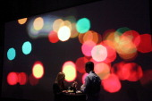 A view of a couple at the Microsoft Windows 8 launch at Pier 57 on October 25 2012 in New York City