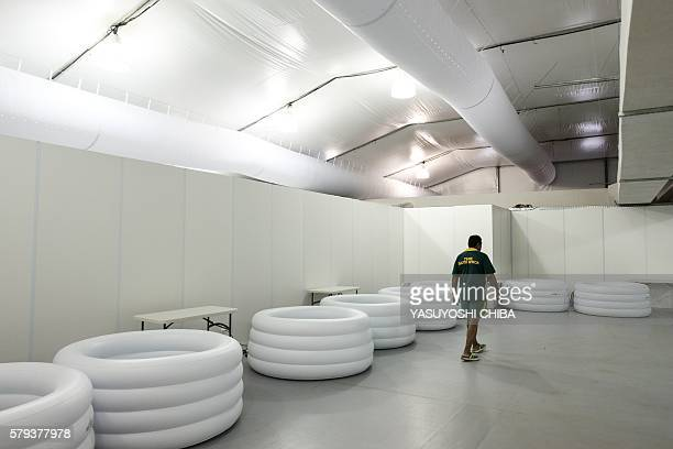 View of a cryotherapy room at the Olympic and Paralympic Village for the 2016 Rio Olympic Games in Rio de Janeiro Brazil on July 23 2016 / AFP /...