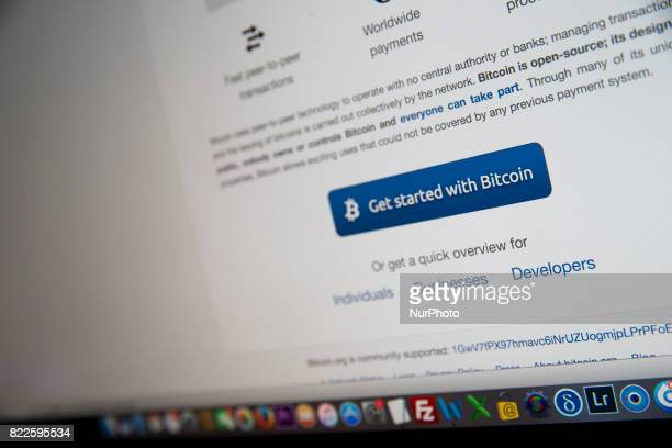 A view of a cryptocurrency Bitcoin website Bitcoin is a cryptocurrency and a digital payment system invented by an unknown programmer or a group of...