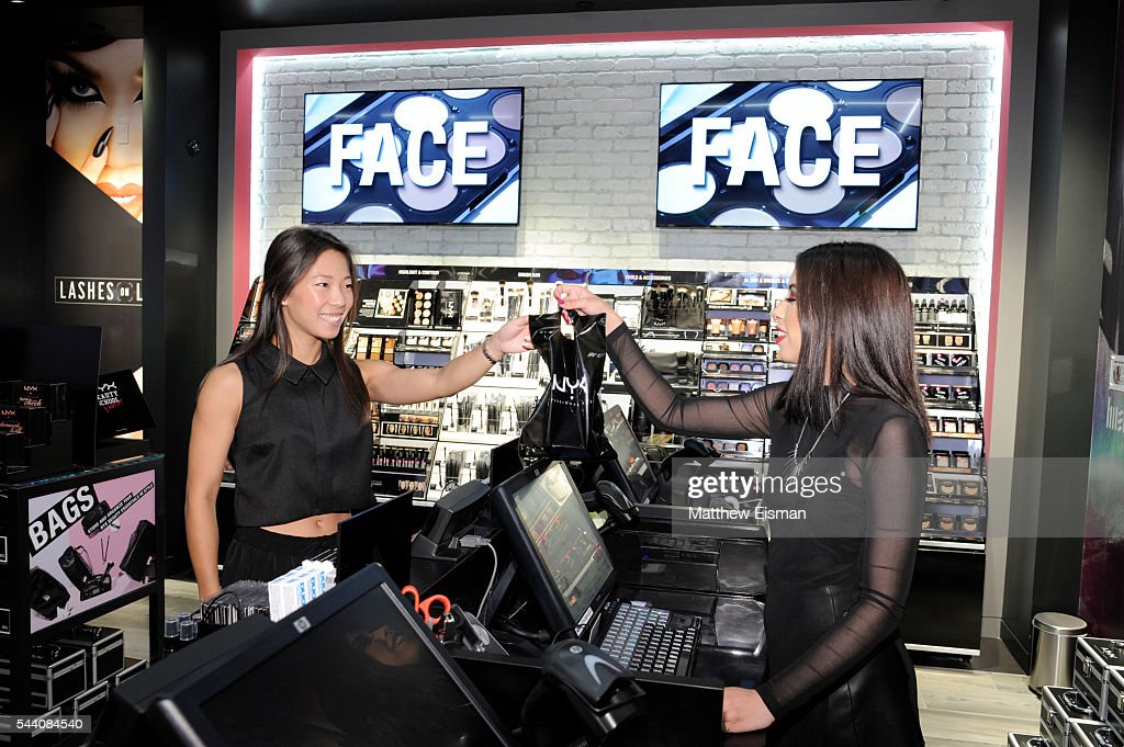 A view of a customer shopping at NYX Professional Makeup Store grand opening event at Queens Center on July 1, 2016 in Elmhurst, New York.