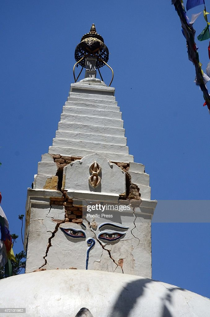 A view of a damaged temple The 2015 Nepal earthquake which killed more than 7000 people and injured more than twice as many occurred on 25 April with...