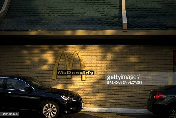 A view of a drivethrough at a McDonald's fast food restaurant October 9 2015 in Clinton Maryland AFP PHOTO/BRENDAN SMIALOWSKI