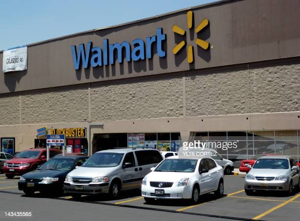 View of a facade of Walmart supermarket in Mexico City on April 26 2012 On the eve Mexico opened a probe into the operating procedures of WalMart the...