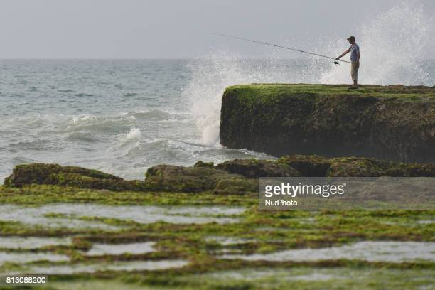 A view of a fisherman near the seaside in Rabat On Friday June 30 in Rabat Morocco