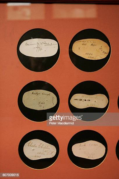 View of a framed series of measured papers from hat fittings at the James Lock Co London England October 12 2004 Among those pictured ones from...