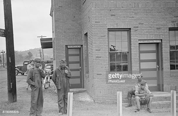 Railroad station with segregated waiting room facilities Manchester Georgia May 1938