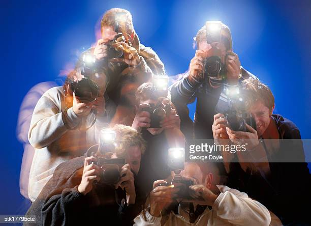 view of a group of photographers clicking pictures