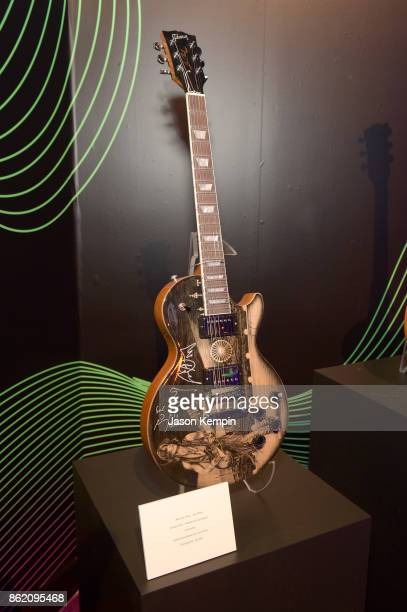 A view of a guitar on display at VH1 Save The Music 20th Anniversary Gala at SIR Stage37 on October 16 2017 in New York City