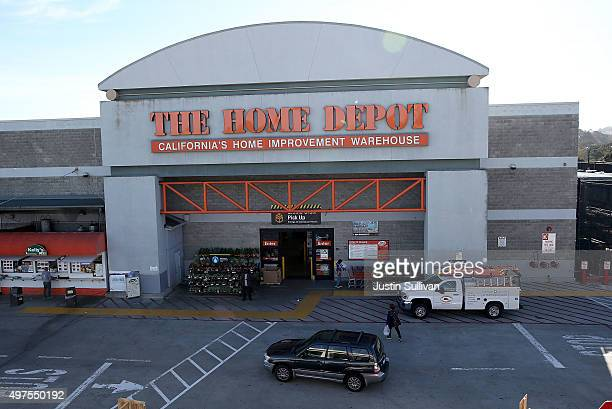 A view of a Home Depot store on November 17 2015 in Colma California Home Depot reported a 122 percent rise in third quarter earnings with a profit...