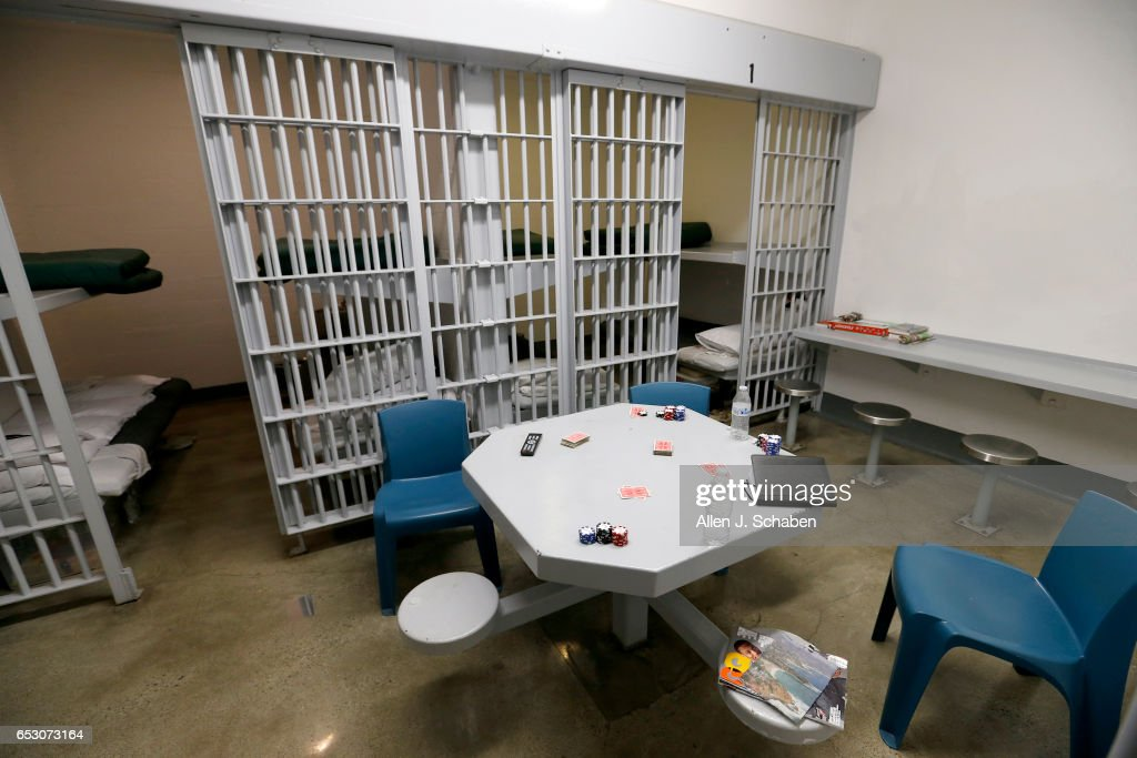 A view of a jail cell dorm where pay-to-stay program inmates can watch television, socialize and play games at the Seal Beach Detention center in Seal Beach. Project is a first-ever review of all 26 pay to stay jails in Southern California, where we've found inmates convicted of violent crimes and sex crimes, and repeat offenders. Seal Beach is by far the most lucrative of the programs, and appears to allow the most serious charges. Photo taken Tuesday, Nov. 29, 2016.