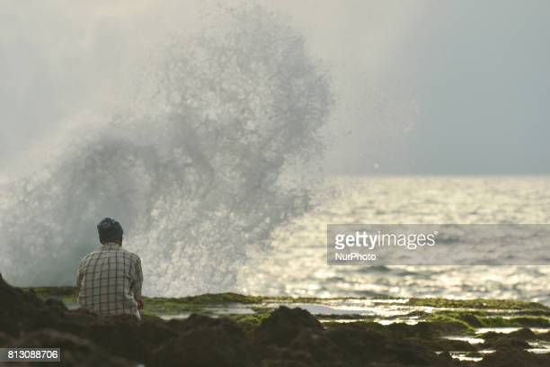 A view of a man watching the sea in Rabat On Friday June 30 in Rabat Morocco