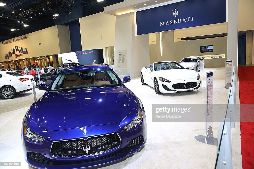 A view of a Maserati at Miami International Auto Show at the Miami Beach Convention Center on November 9, 2013 in Miami Beach, Florida.