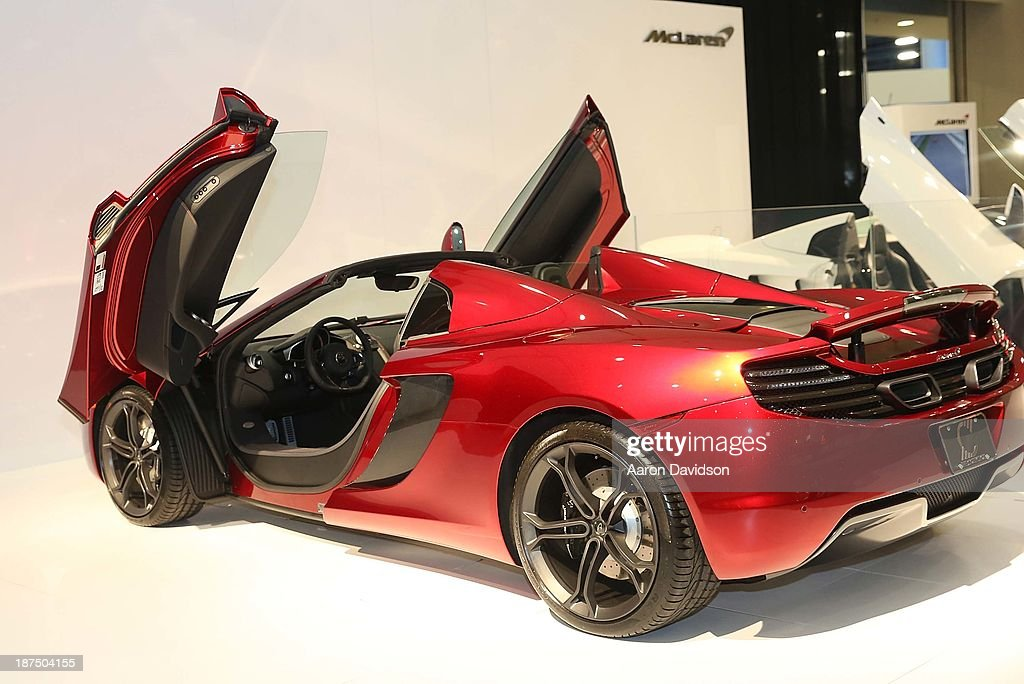 A view of a McLaren at Miami International Auto Show at the Miami Beach Convention Center on November 9, 2013 in Miami Beach, Florida.