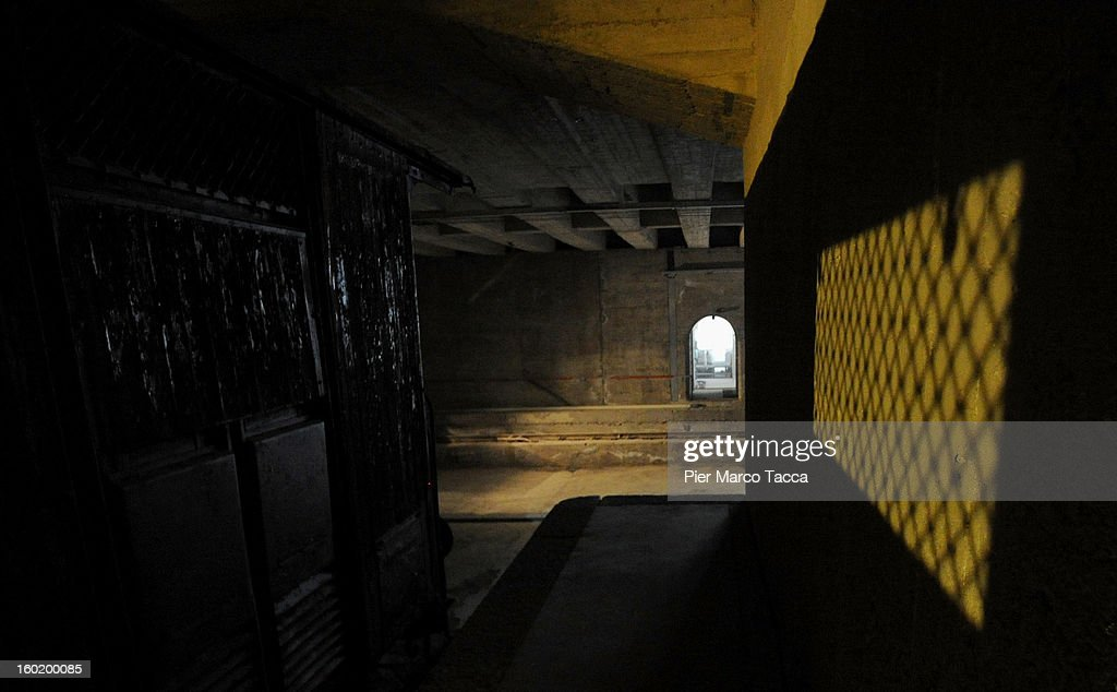 A view of a memorial at Platform 21 (Binario 21) which was used for transporting Jews to concentration camps during World War II, during the opening of 'Memoriale della Shoa' on International Holocaust Remembrance Day on January 27, 2013 in Milan, Italy. 'Memoriale della Shoa' is located at Platform 21 (Binario 21), which formed part of a secret underground rail network that transported hundreds of Jews to camps such as Auschwitz and Dachau, from1943 to 1945.