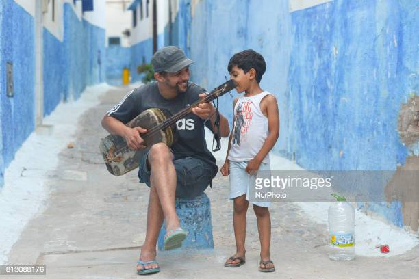A view of a musician in Rabat's Kasbah of the Udaya On Friday June 30 in Rabat Morocco