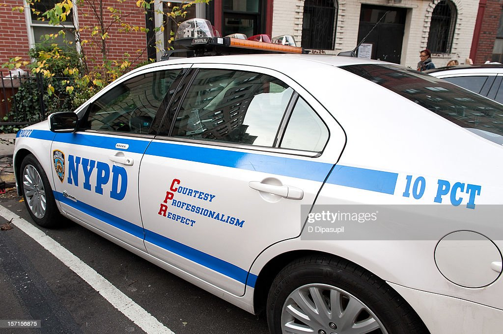 A view of a NYPD vehicle outside the New York City Police Department 10th Precinct at NYPD 10th Precinct on November 29, 2012 in New York City. Lindsay Lohan was charged with third-degree assault after being taken to the 10th precinct following an alleged assault on woman at club Avenue NYC early this morning.