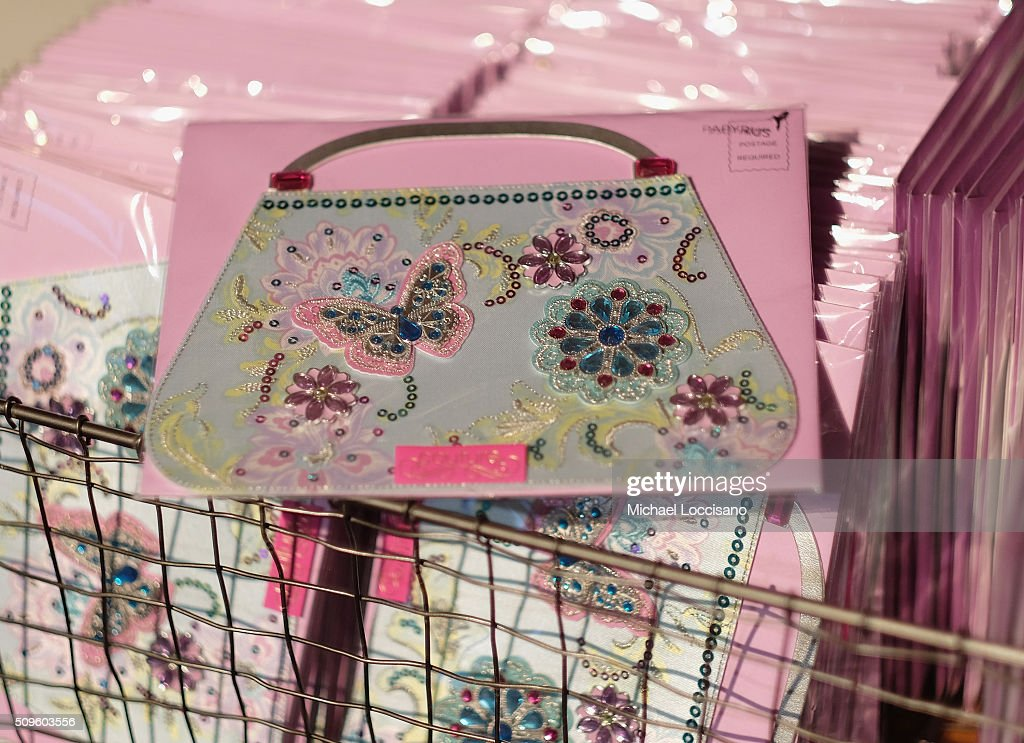 A view of a Papyrus card display during Fall 2016 New York Fashion Week at the Skylight at Clarkson sq on February 11, 2016 in New York City.