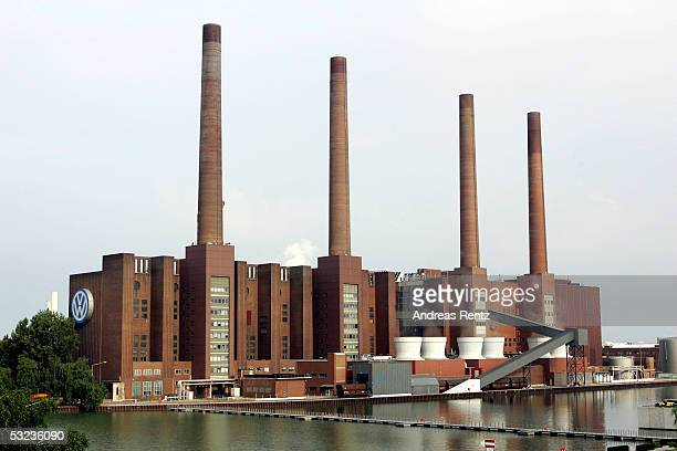 A view of a part of the Volkswagen cars factory on July 14 2005 in Wolfsburg Germany Volkswagens Human Resources Director Peter Hartz offered his...