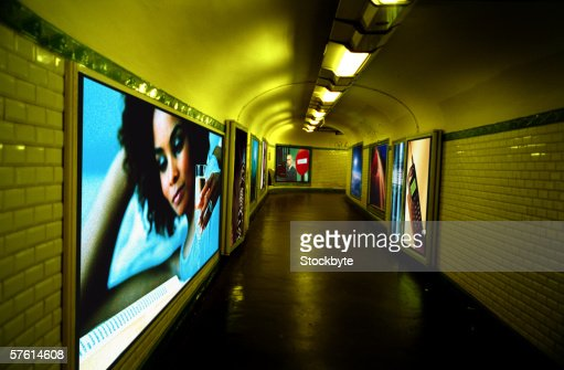 View of a passage in a subway : Stock Photo