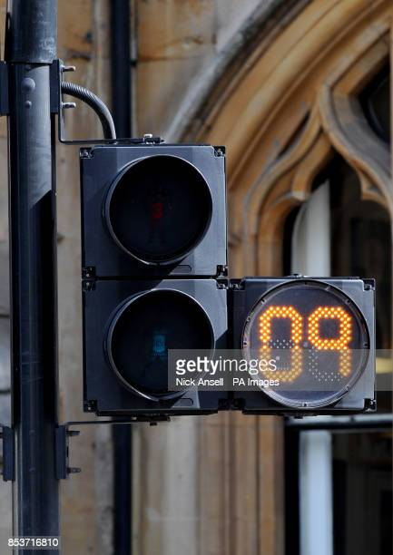 A view of a pedestrian countdown crossing in central London as more pedestrian crossings will get 'howlonghaveIgot' countdown signs as part of a new...