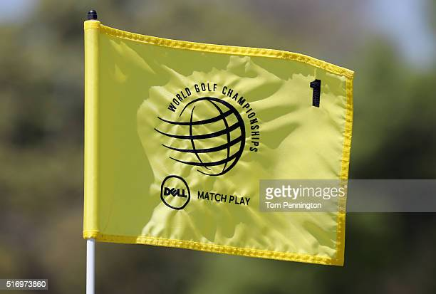 A view of a pin flag during a practice round for the World Golf ChampionshipsDell Match Play at Austin Country Club on March 22 2016 in Austin Texas