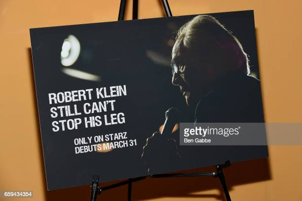 A view of a poster at the 'Robert Klein Still Can't Stop His Leg' Special Screening at SVA Theater on March 28 2017 in New York City
