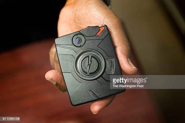 View of a Prince Georges County emergency response officer's body camera as ERT's begin wearing body cameras in Upper Marlboro MD on January 28 2016...